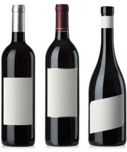 Vinetikett på flaska